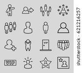 member icons set. set of 16... | Shutterstock .eps vector #621216257