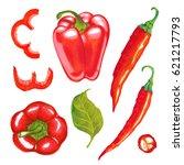watercolor marker illustration... | Shutterstock . vector #621217793