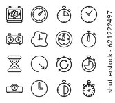second icons set. set of 16... | Shutterstock .eps vector #621222497