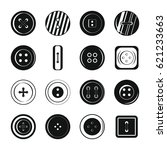 clothes button icons set.... | Shutterstock . vector #621233663