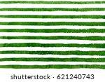 watercolor green brush strokes... | Shutterstock . vector #621240743