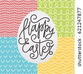 happy easter card with a... | Shutterstock .eps vector #621247877