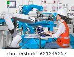 woman software engineers... | Shutterstock . vector #621249257