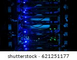 network servers in data room... | Shutterstock . vector #621251177
