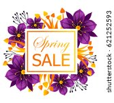 banner for spring sale with... | Shutterstock .eps vector #621252593