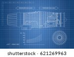 jet engine in a outline style.... | Shutterstock . vector #621269963