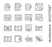 plan and schedule icon set | Shutterstock .eps vector #621274367