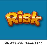 risk text for title or headline.... | Shutterstock . vector #621279677
