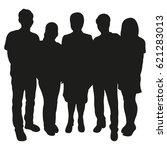 group of people vector... | Shutterstock .eps vector #621283013