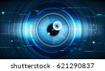abstract technological eye... | Shutterstock .eps vector #621290837