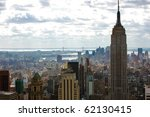 new york city skyline with the... | Shutterstock . vector #62130415
