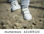 the baby's legs.little baby boy ... | Shutterstock . vector #621305123