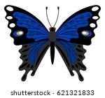 blue butterfly   beautiful ... | Shutterstock .eps vector #621321833