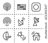 radio icon. set of 9 radio... | Shutterstock .eps vector #621342347