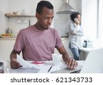 young dark skinned male...   Shutterstock . vector #621343733