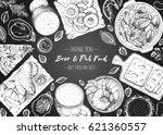 pub food frame vector... | Shutterstock .eps vector #621360557