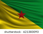 the national flag of french... | Shutterstock .eps vector #621383093