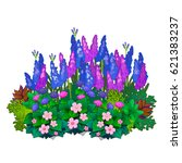 A Flower Bed With Bright...