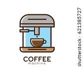 coffee machine logo design | Shutterstock .eps vector #621385727