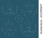 futuristic blue virtual graphic ... | Shutterstock .eps vector #621390647