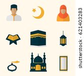 flat islam icon collection | Shutterstock .eps vector #621403283