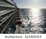 sea horizon from ocean liner