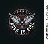 born to ride typographic design ... | Shutterstock .eps vector #621412337