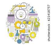 emblem of a set of business... | Shutterstock .eps vector #621418757