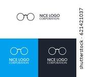 glasses logo template icon... | Shutterstock .eps vector #621421037