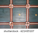 Wooden Ceiling In An Old Churc...