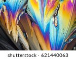 colorful micro crystals of... | Shutterstock . vector #621440063