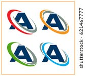 icon logo initials letter a... | Shutterstock .eps vector #621467777