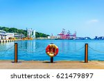 keelung harbor sea view with... | Shutterstock . vector #621479897