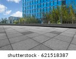 empty pavement and modern... | Shutterstock . vector #621518387