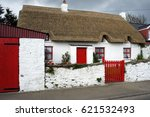 Ireland. Old Cottage With...