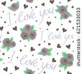 hearts doodle pattern ...   Shutterstock . vector #621533033