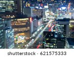 aerial view blurred bokeh light ... | Shutterstock . vector #621575333
