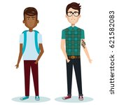 young people style characters | Shutterstock .eps vector #621582083