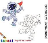 spaceman with flag to be... | Shutterstock .eps vector #621582983