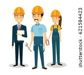 professional construction... | Shutterstock .eps vector #621584423