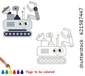 lunar robot to be colored  the... | Shutterstock .eps vector #621587447