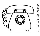 phone service isolated icon | Shutterstock .eps vector #621589343