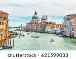 grand canal and basilica santa... | Shutterstock . vector #621599033