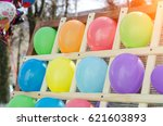 Colorful Balloons As Targets....
