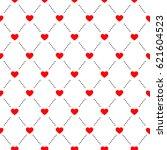 heart seamless pattern on white ... | Shutterstock .eps vector #621604523