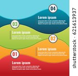 curve color info graphic... | Shutterstock .eps vector #621613937