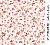 seamless pattern of watercolor... | Shutterstock . vector #621625103