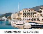 yacht porto montenegro. elite... | Shutterstock . vector #621641603