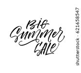 big summer sale postcard. ink... | Shutterstock .eps vector #621658547