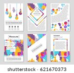 abstract vector layout... | Shutterstock .eps vector #621670373